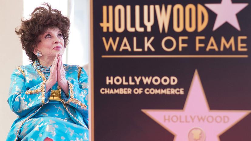 Джина Лоллобриджида получила свою звезду наАллее славы вГолливуде