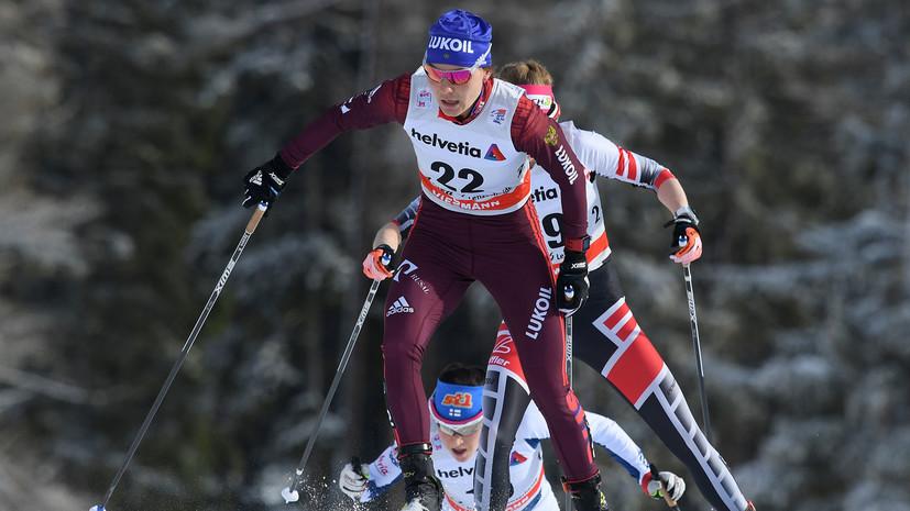Российские лыжницы заняли весь пьедестал в скиатлоне на молодёжном ЧМ