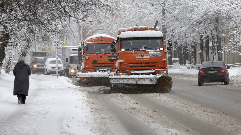 Губернатор Подмосковья поручил оперативно устранить последствия снегопада