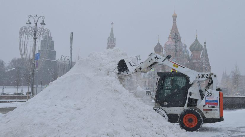 Синоптики рассказали, когда в Москве уменьшится интенсивность снегопада