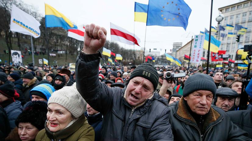 Сторонники Саакашвили призвали Порошенко выйти на Майдан 18 февраля и объявить об отставке