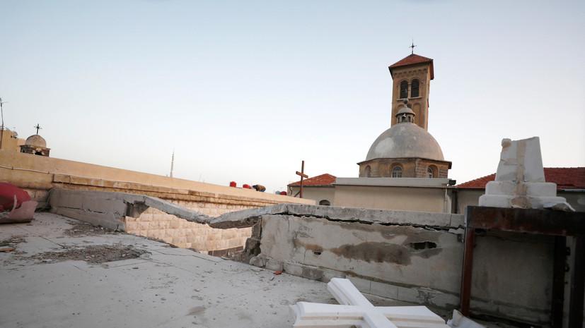 В Дамаске обстреляли пункты раздачи гумпомощи от российских верующих