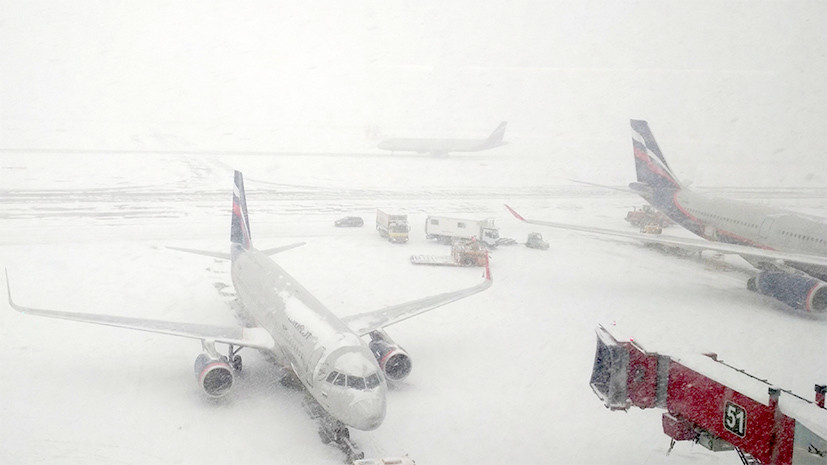 В Росавиации сообщили о случаях повреждения самолётов во время сильных снегопадов