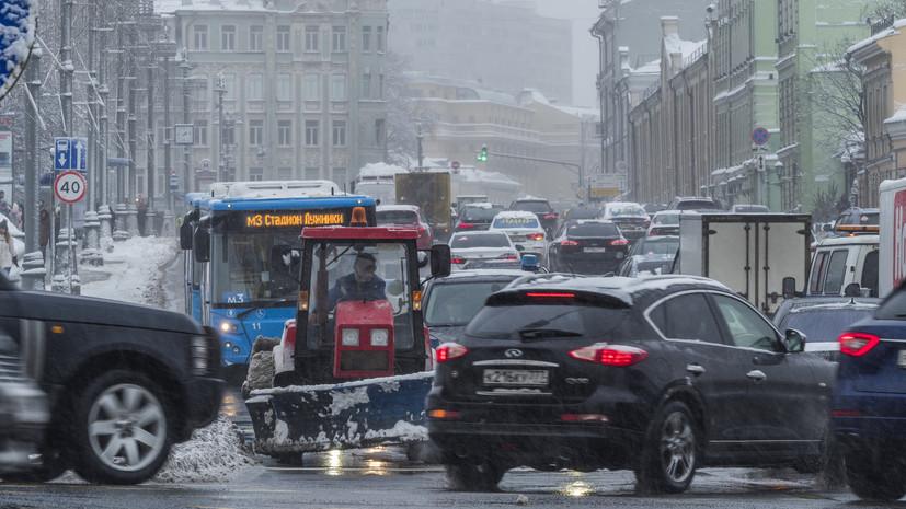 Пробки на дорогах Москвы достигли 8 баллов