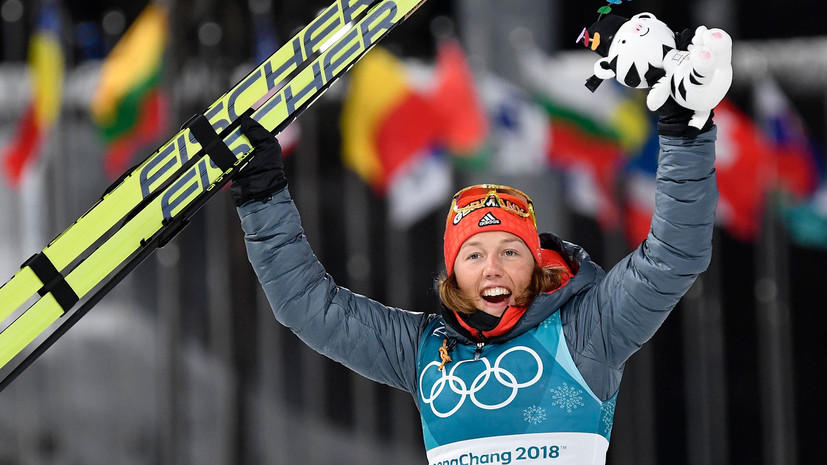 Биатлонистка Дальмайер поделилась впечатлениями от победы в спринтерской гонке на ОИ-2018