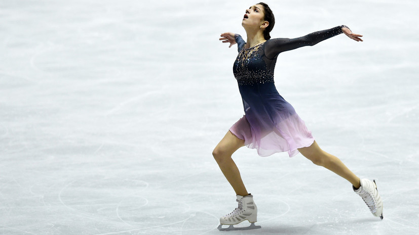 Медведева выступает в командном турнире фигуристов на Олимпиаде в Пхёнчхане