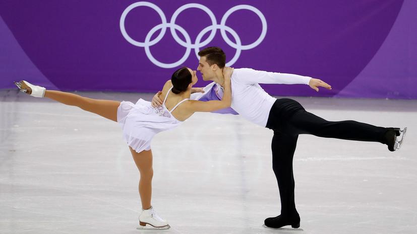 Команда олимпийских атлетов из России осталась на втором месте после произвольной программы по фигурному катанию