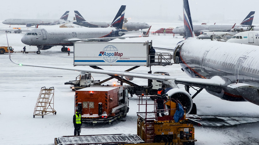 В аэропортах Москвы отменено и задержано более 30 рейсов