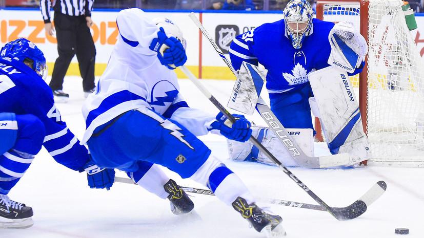 «Тампа» уступила «Торонто», Кучеров забросил 30-ю шайбу в нынешнем сезоне НХЛ