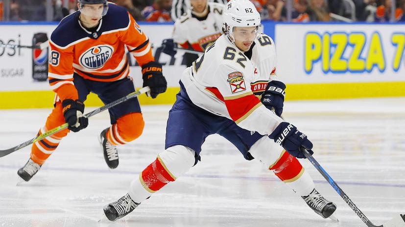 Дубль Дадонова помог «Флориде» обыграть «Эдмонтон» в матче НХЛ