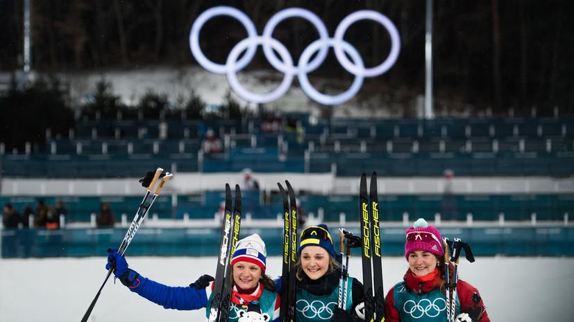 Российская лыжница Белорукова завоевала бронзу в классическом спринте на ОИ-2018