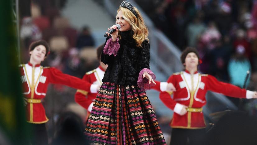 Пелагея уверена, что россияне будут петь гимн у телевизоров