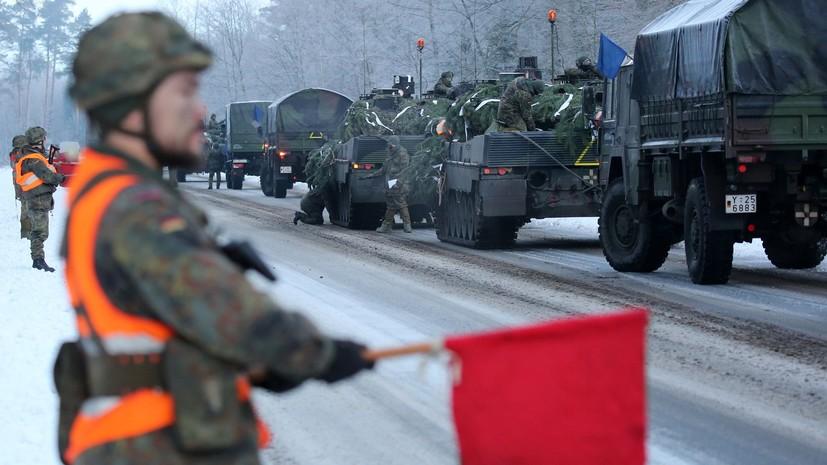 СМИ: Германии не хватает танков для участия в операциях НАТО