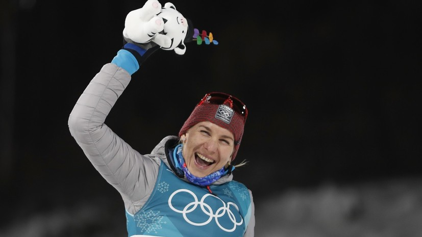 Кузьмина посвятила серебро в индивидуальной гонке на ОИ-2018 своему брату Шипулину