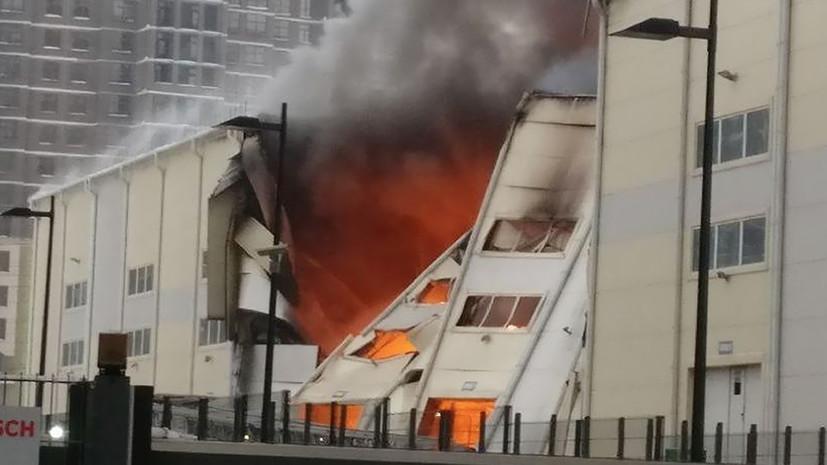 В офисном здании в Химках произошёл пожар на площади 2 тысячи квадратных метров