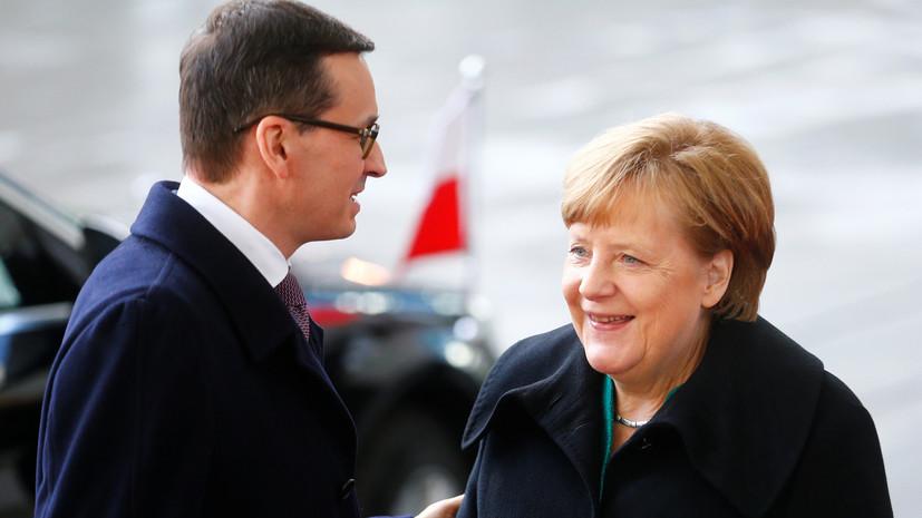 Меркель не видит угрозы в газопроводе «Северный поток — 2»