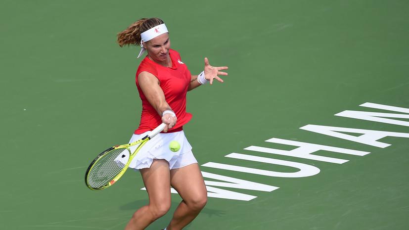Теннисистка Кузнецова рассказала, когда вернётся на корт после травмы