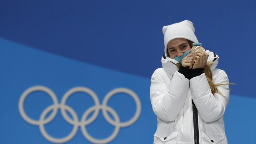 Лыжница Белорукова рассказала, как она нервничала в ожидании финиша партнёров по сборной в эстафете на ОИ-2018