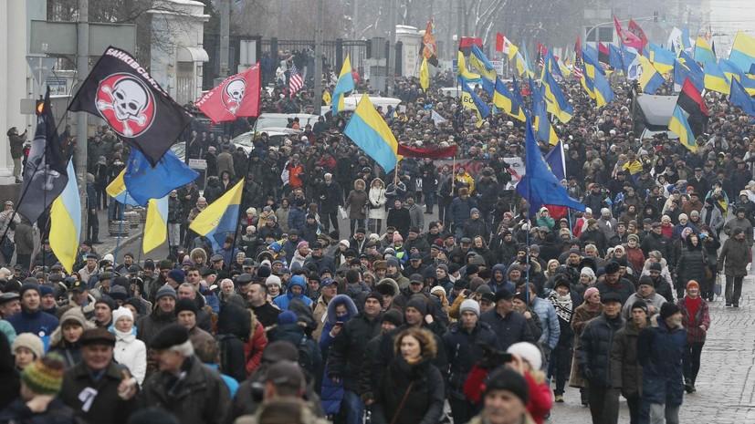 На Украине более 14 тысяч человек приняли участие в мероприятиях по случаю годовщины Майдана