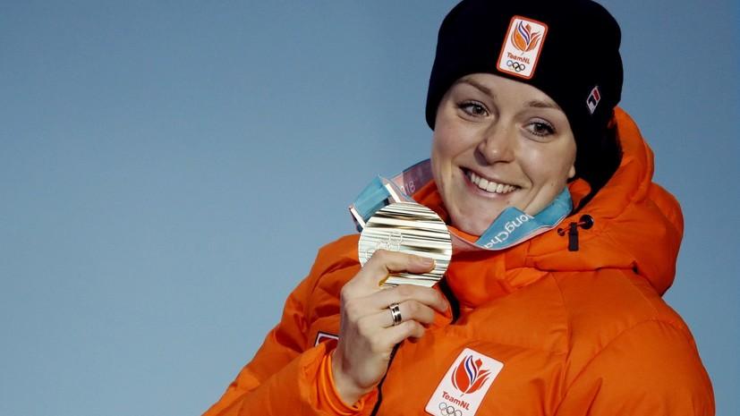 Голландка тер Морс стала первой спортсменкой в истории, завоевавшей медали в двух разных видах спорта на одних ОИ