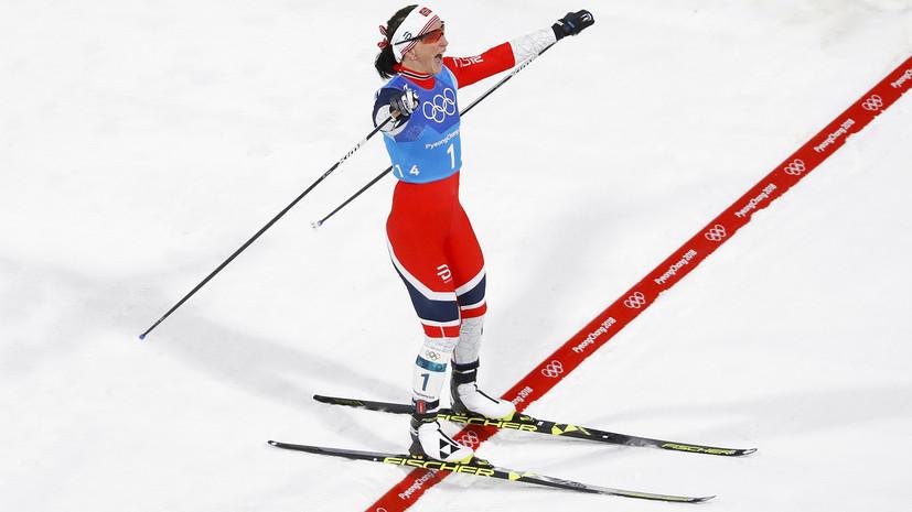 Норвежская лыжница Бьорген побила рекорд биатлониста Бьорндалена по числу медалей на ОИ