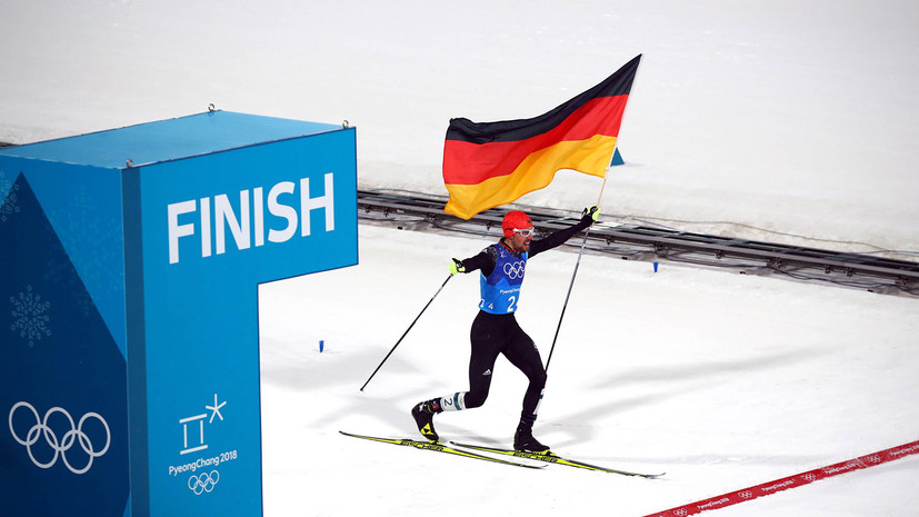 Сборная Германии по лыжному двоеборью завоевала золото ОИ-2018 в командных соревнованиях