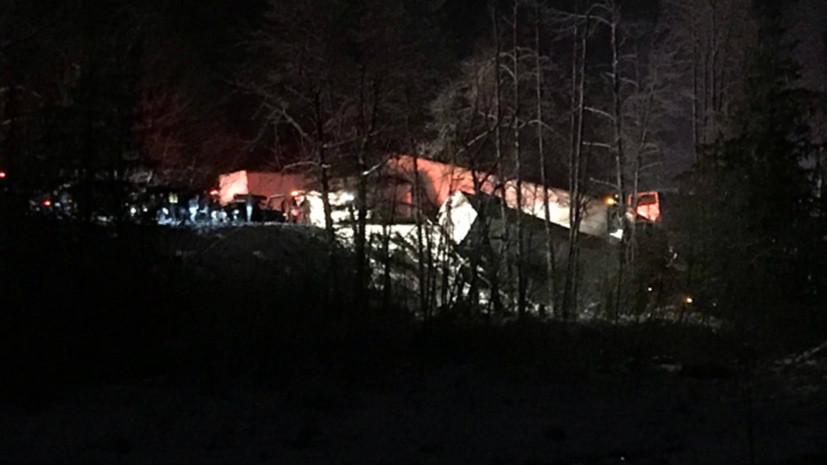ВКанаде случилось массовое ДТП сучастием автобуса: около 40 человек пострадали