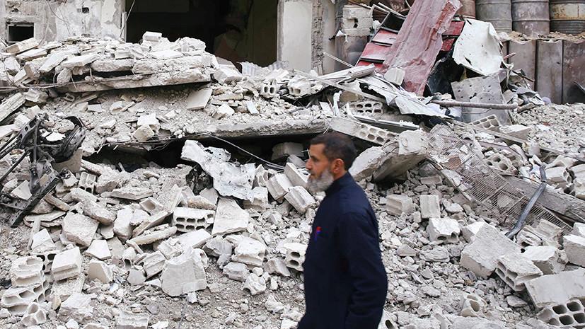 Генерал: мирные жители не могут покинуть Восточную Гуту из-за обстрела боевиков