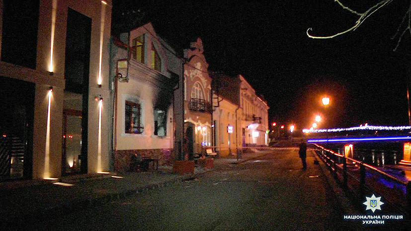 В МИД Украины назвали «позорной провокацией» поджог офиса Союза венгров в Ужгороде