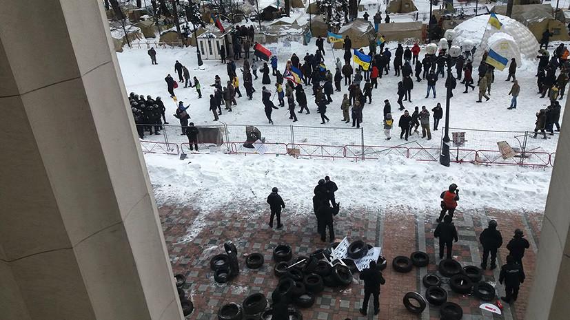 У здания Рады в ходе акции сторонников Саакашвили пострадали двое полицейских