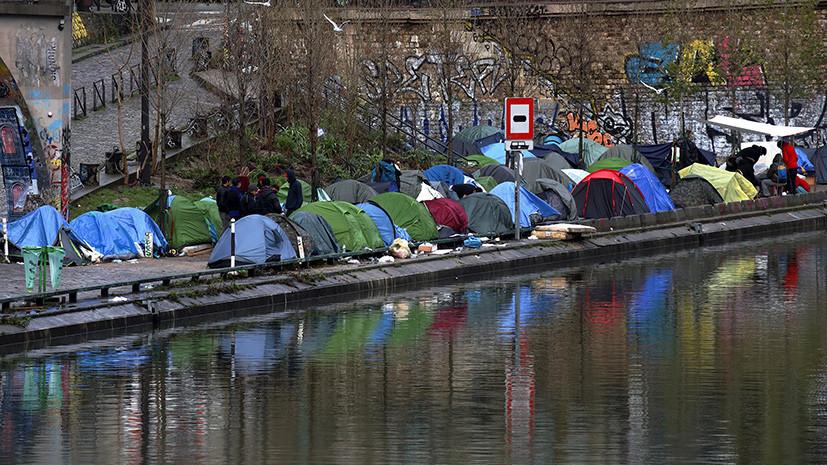 Во Франции чиновники будут спать на улице в знак солидарности с бездомными