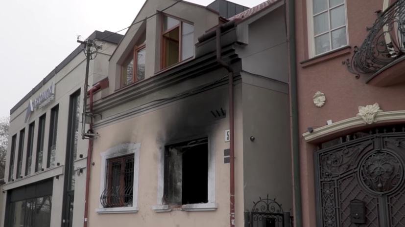 Климкин нашёл «внешний след» в поджоге здания Союза венгров в Ужгороде