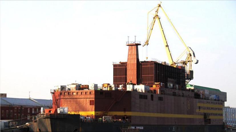 «Росатом» планирует запустить плавучую атомную станцию в 2018 году