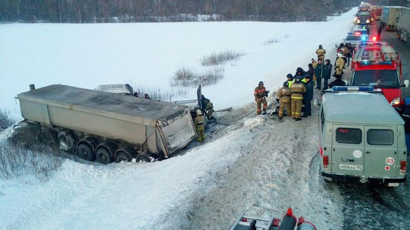 Полиция задержала водителя грузовика, из-за которого в Башкирии произошло ДТП