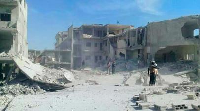 Последствия химической атаки в сирийском Хан-Шейхуне, апрель 2017 года