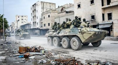 Военные инженеры сводного отряда Международного противоминного центра Вооружённых сил РФ