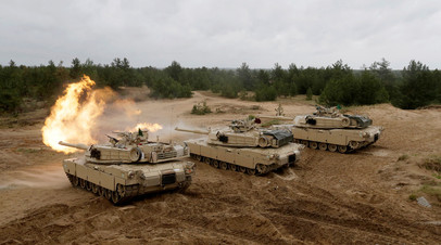 Во время военных учений НАТО в Латвии