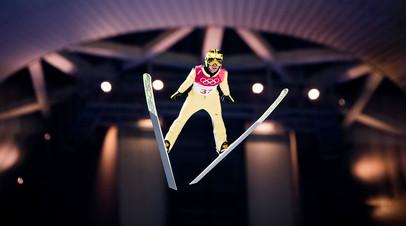 Японский летающий лыжник Нориаки Касаи