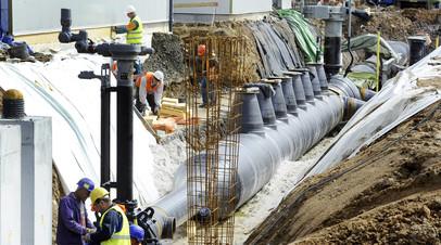 Строительные работы на газопроводе «Северный поток»