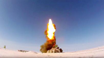 Пуск модернизированной противоракеты на полигоне Сары-Шаган (11 февраля 2018)