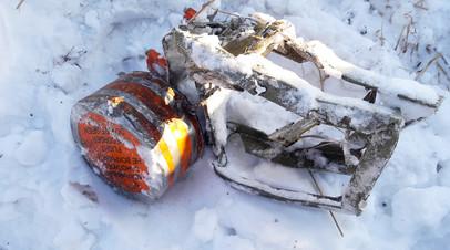 Найденный чёрный ящик самолёта Ан-148