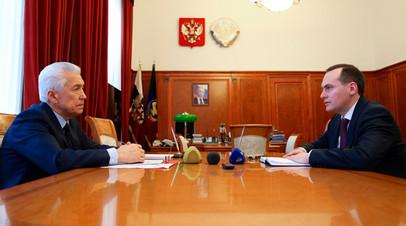 Артём Здунов представил Владимиру Васильеву предложения по новой структуре Правительства Дагестана