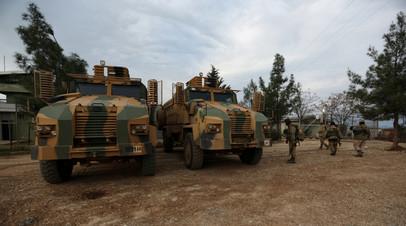 Военная техника Свободной сирийской армии, которую поддерживает Турция, в районе Африна