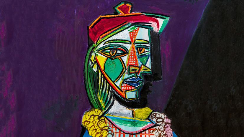 Картина Пикассо «Женщина в берете и клетчатом платье» продана за £49,8 млн