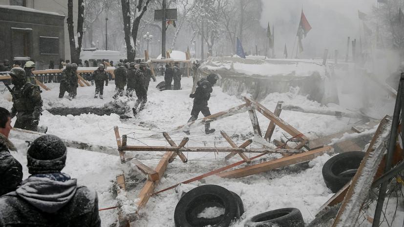 В украинской полиции заявили, что в палаточном лагере возле Рады изъяли гранаты и «коктейли Молотова»