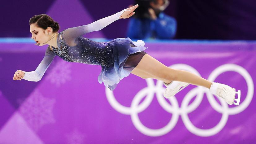 Фигуристка Медведева показала скрытый под шарфом флаг России на Олимпиаде в Пхёнчхане