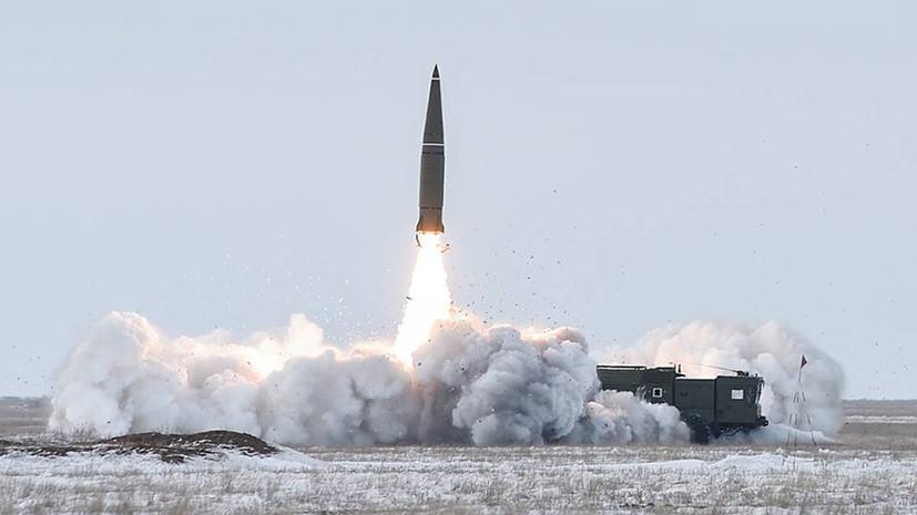 Опубликовано видео пуска ракеты «Искандер» на учениях в Астраханской области