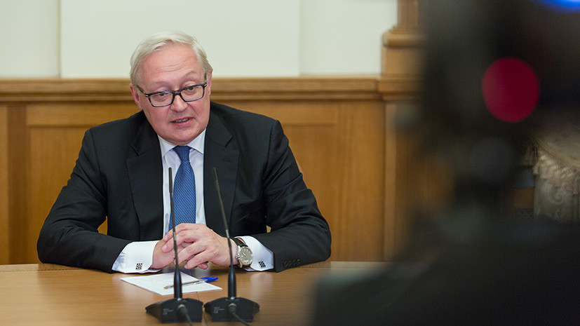 Рябков: Россия предложила США провести в Эфиопии встречу Лаврова и Тиллерсона