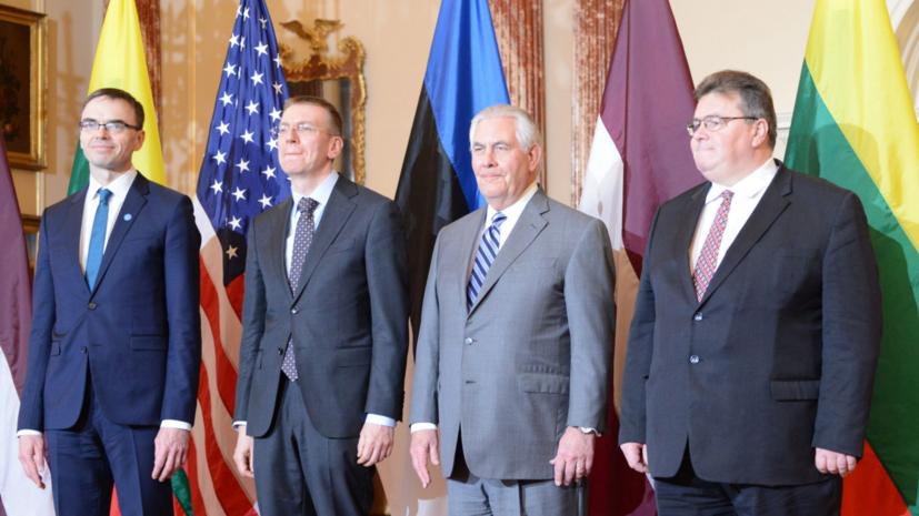 Главы МИД стран Балтии провели встречу с госсекретарём США