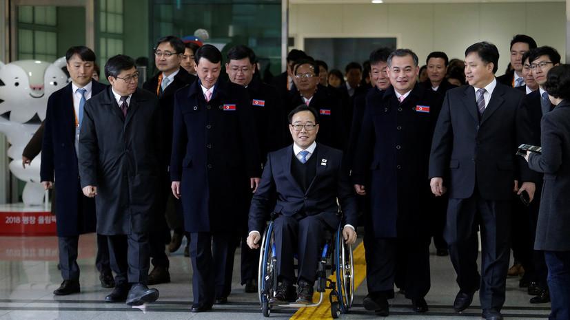 Делегация из КНДР прибыла в южнокорейский Пхёнчхан для участия в Паралимпиаде 2018 года